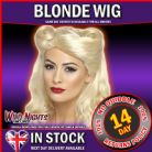 FANCY DRESS WIG # LADIES 1940s PIN UP GIRL BLONDE WIG
